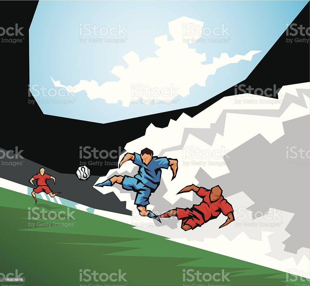 Soccer (European football) royalty-free stock vector art