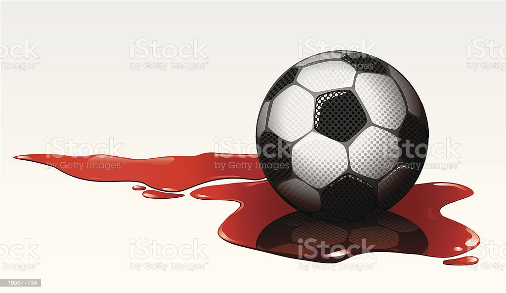 Soccer violence vector art illustration