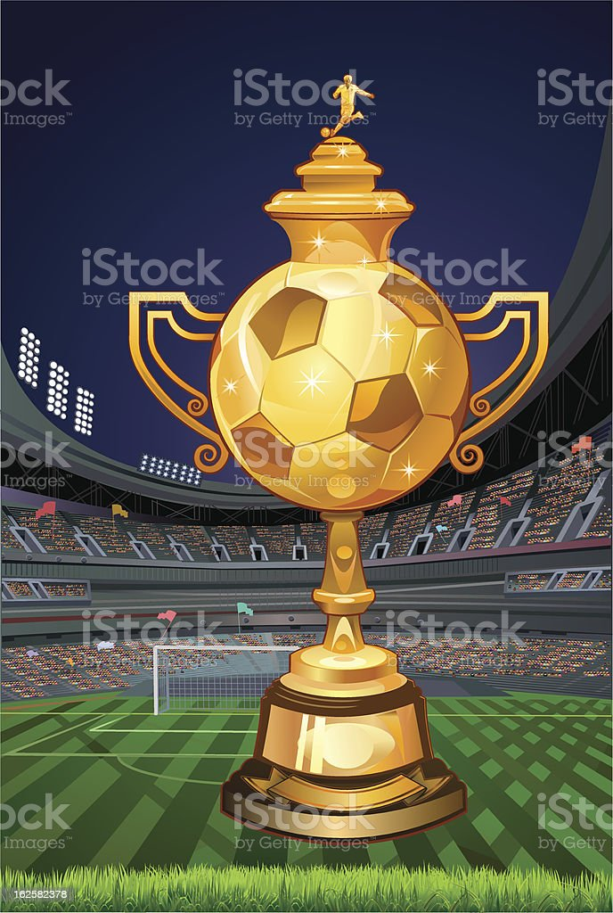 Soccer Winner Cup royalty-free stock vector art