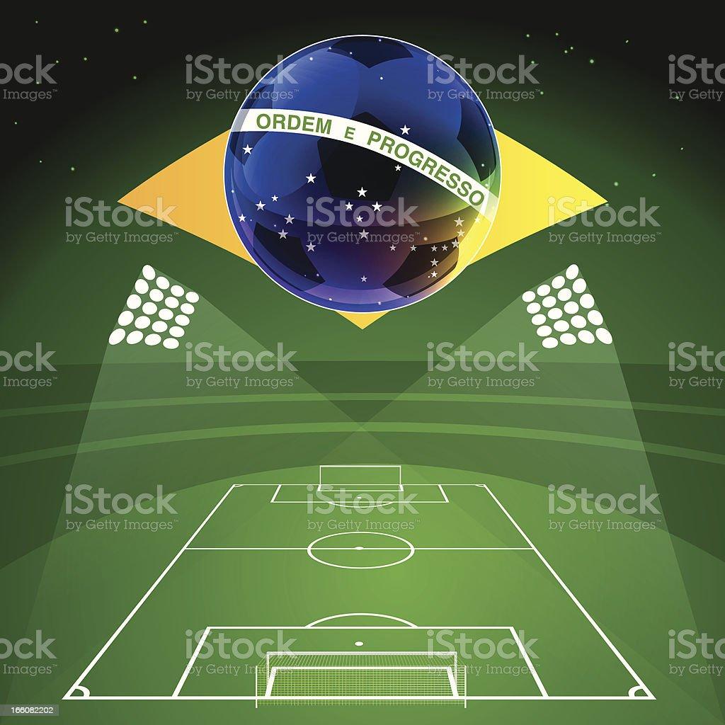Soccer WM Brazil royalty-free stock vector art