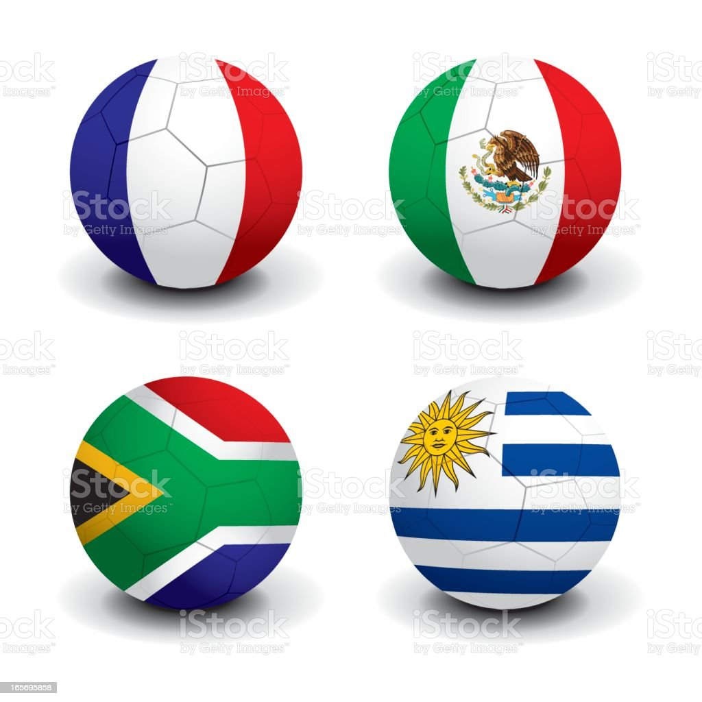 Soccer World Cup 2010 - Group A royalty-free stock vector art