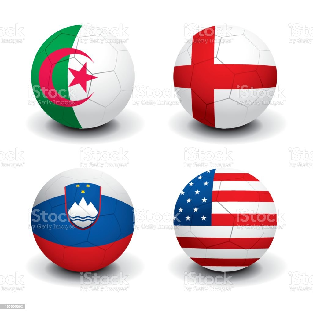 Soccer World Cup 2010 - Group C royalty-free stock vector art