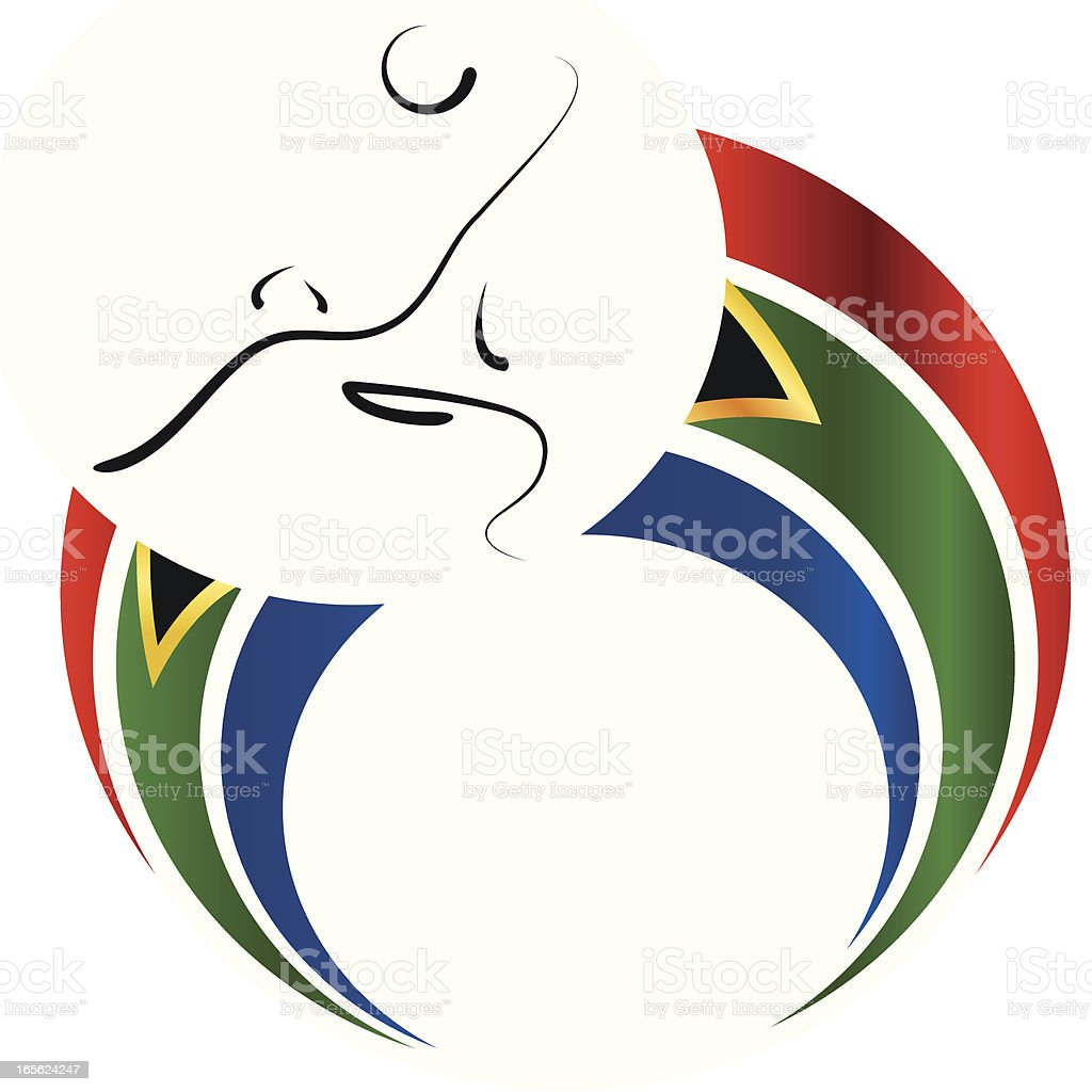 Soccer World Cup 2010 Player vector art illustration