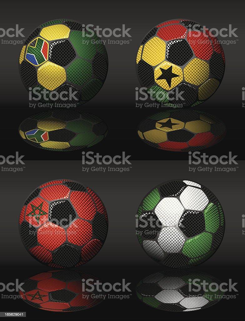 Soccer-South africa,Ghana,Morroco,Nigeria royalty-free stock vector art