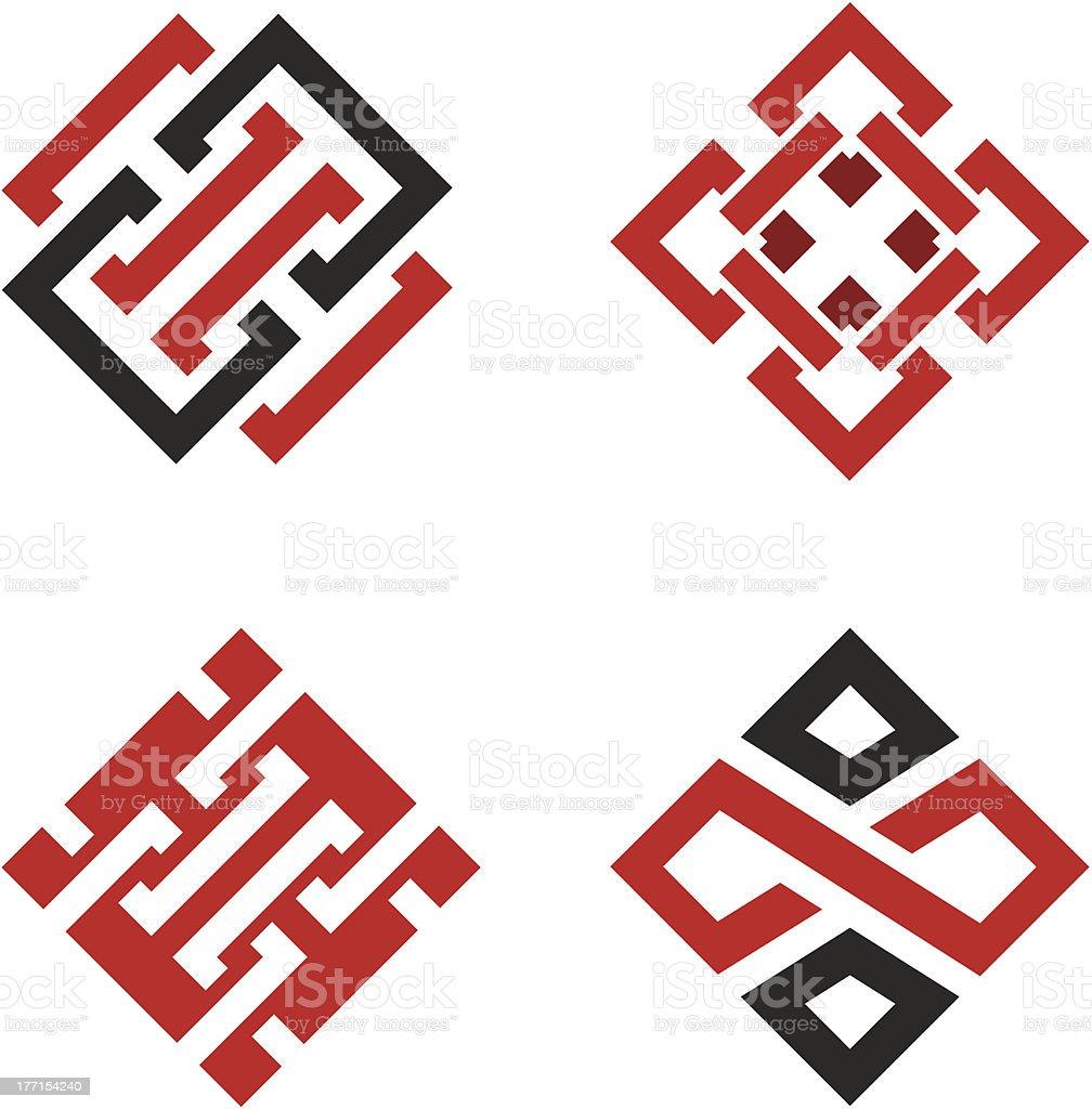 Social and Community Chain Partnership logo symbol template vector royalty-free stock vector art