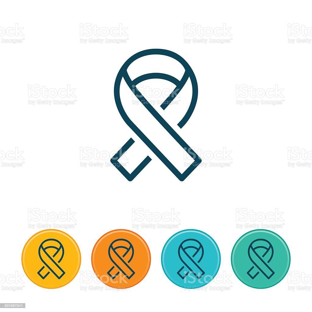 Social Awareness Ribbon Icon vector art illustration