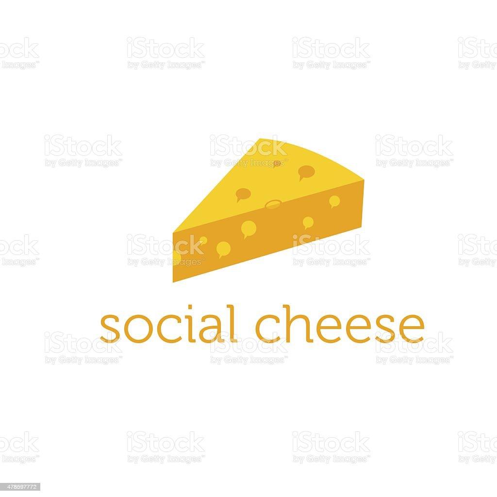 social cheese concept vector design template vector art illustration