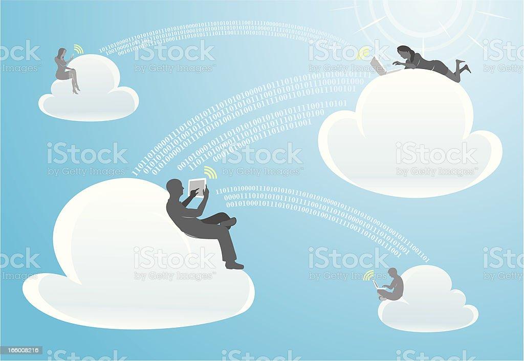 Social Cloud Network royalty-free stock vector art