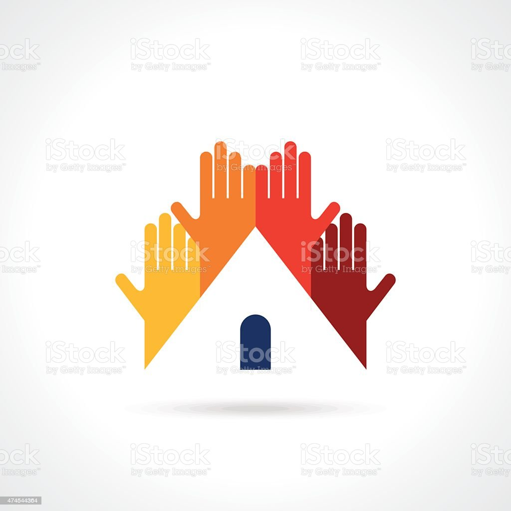 Social Cloud vector logo design template. Social Marketing. vector art illustration