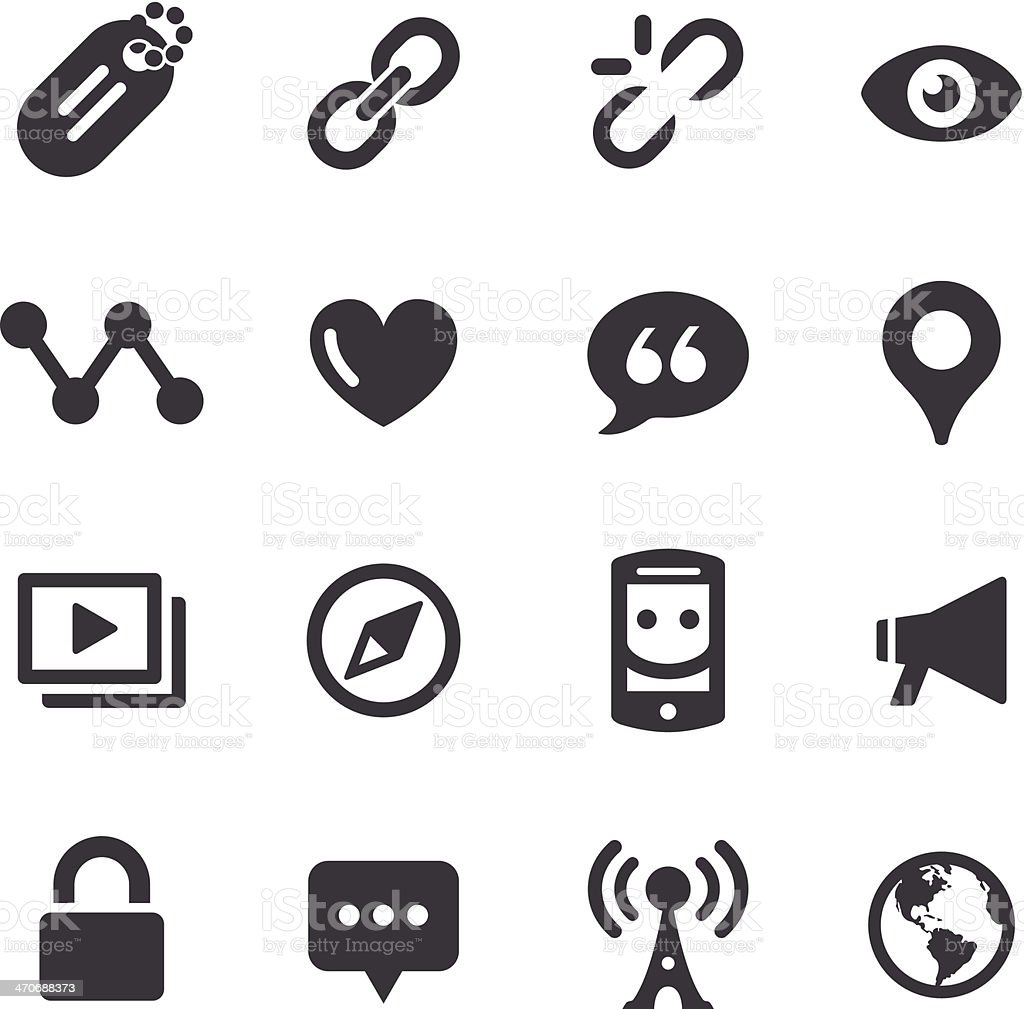 Social Communication Icons - Acme Series vector art illustration