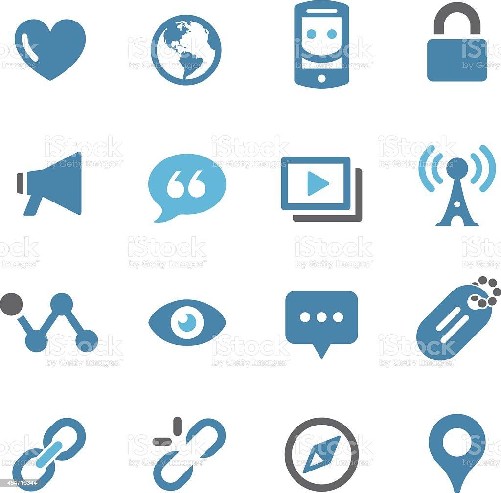 Social Communication Icons - Conc Series vector art illustration