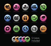Social Communications Icon set // Gelcolor Series