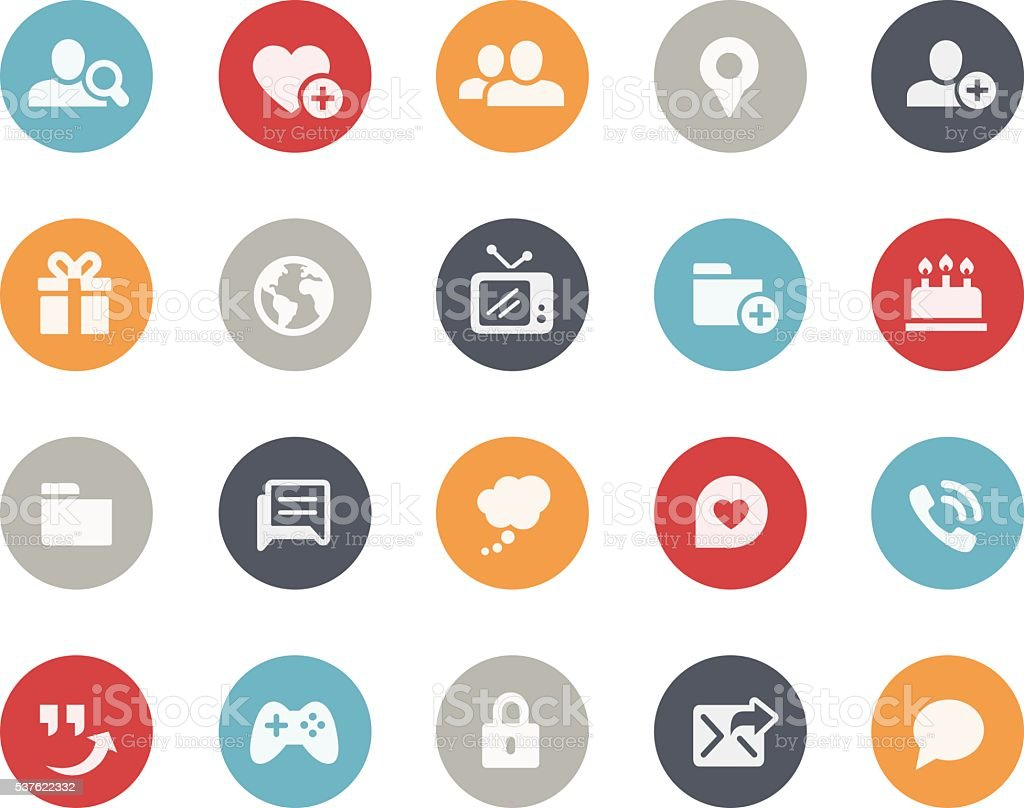 Social Communications Icons // Classics vector art illustration