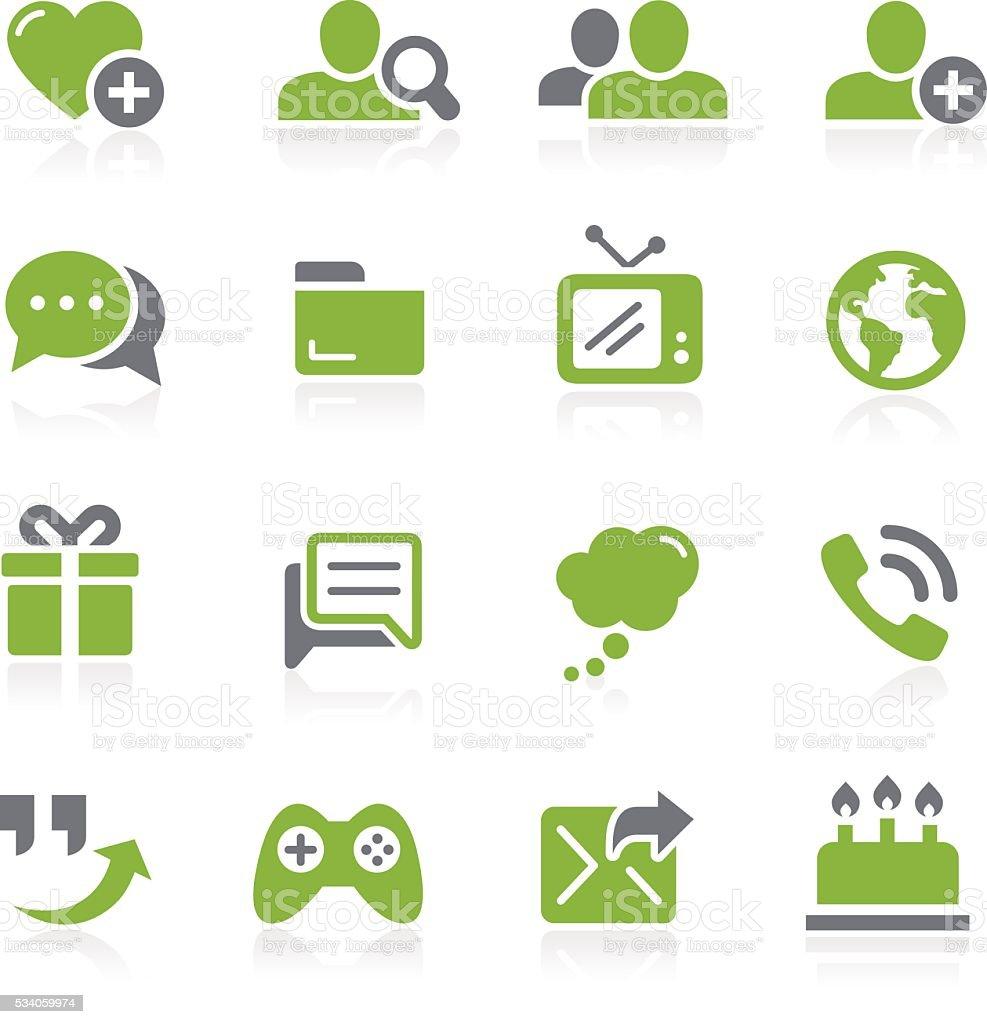 Social Communications Icons // Natura Series vector art illustration