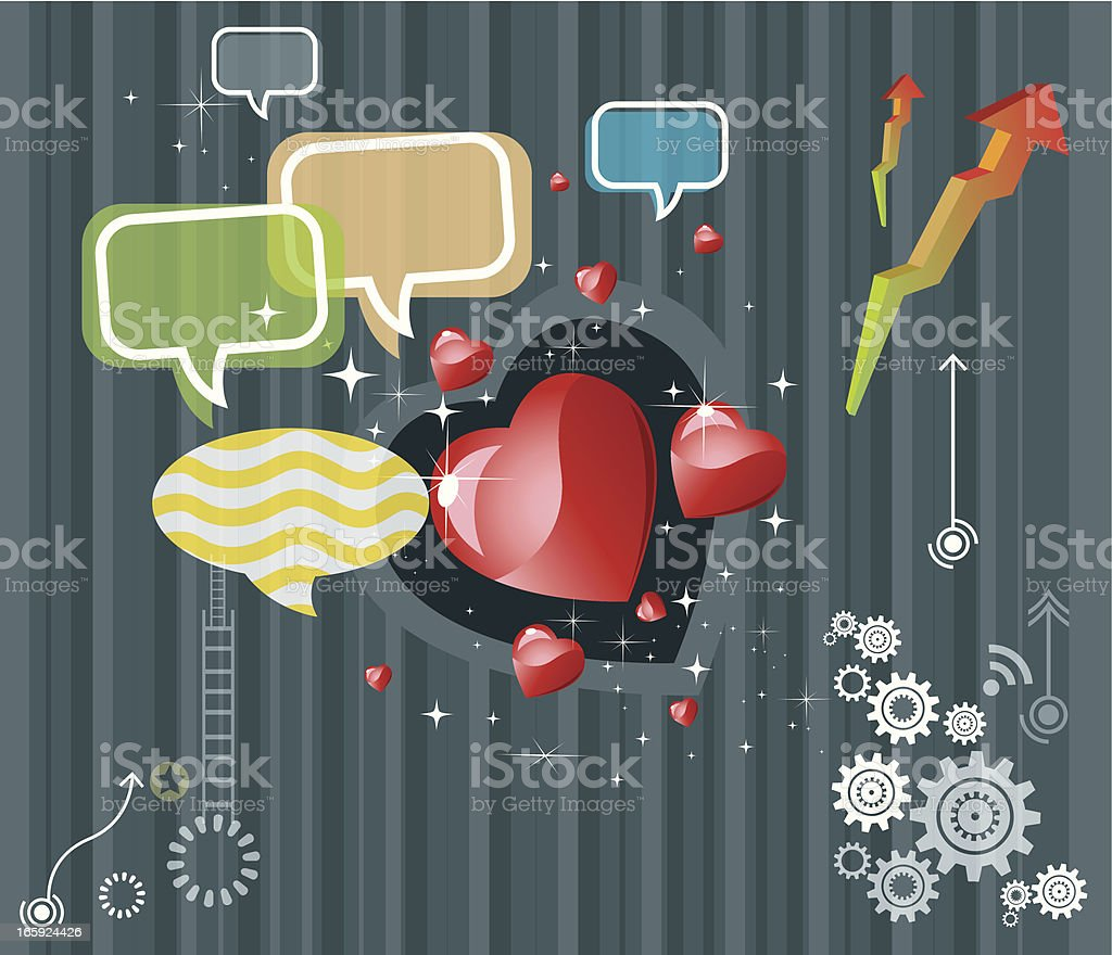 Social community and Love royalty-free stock vector art