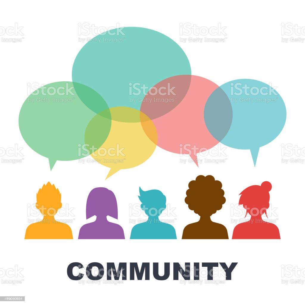 social community vector art illustration