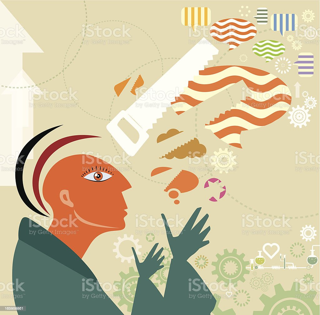 Social Community with Jarring opinions vector art illustration