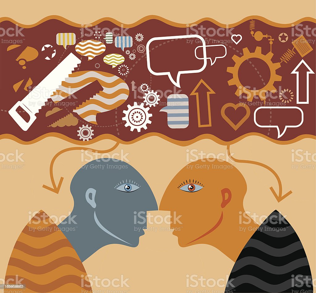 Social Community with People vector art illustration