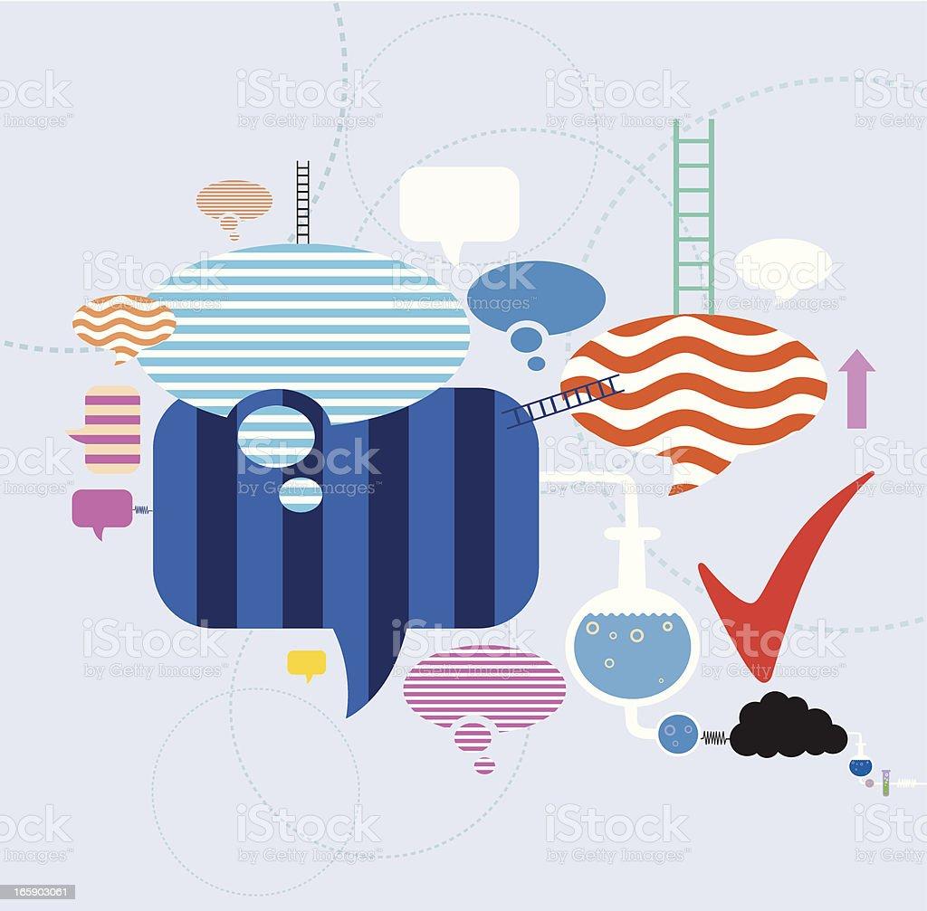 Social Community with Speech bubble royalty-free stock vector art