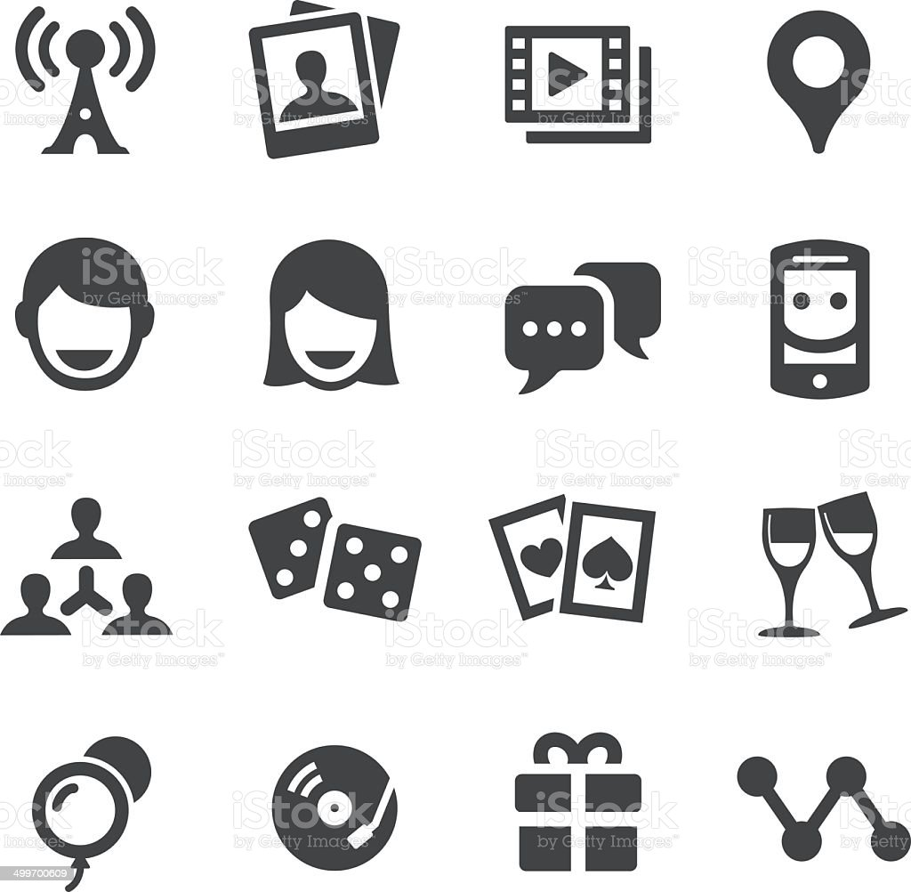 Social Entertainment Icons - Acme Series vector art illustration