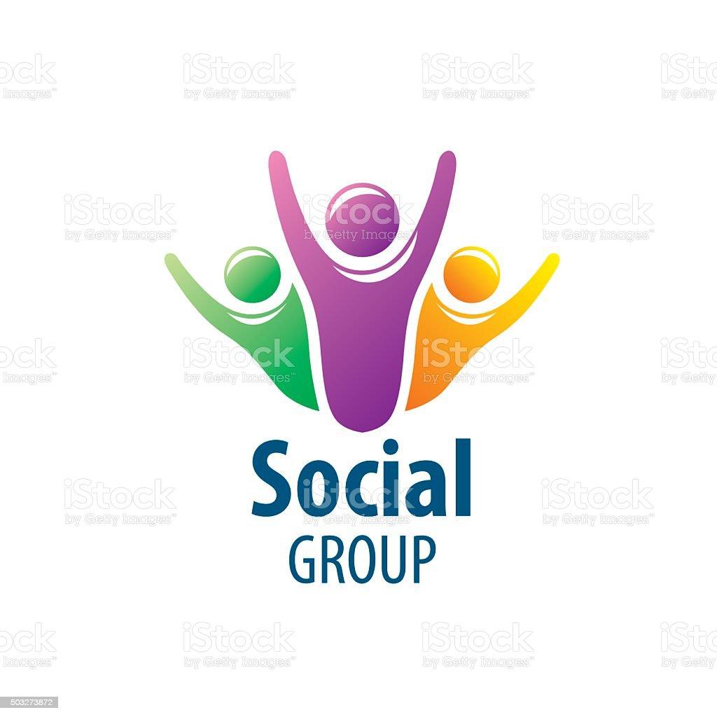 Social Group icon vector art illustration