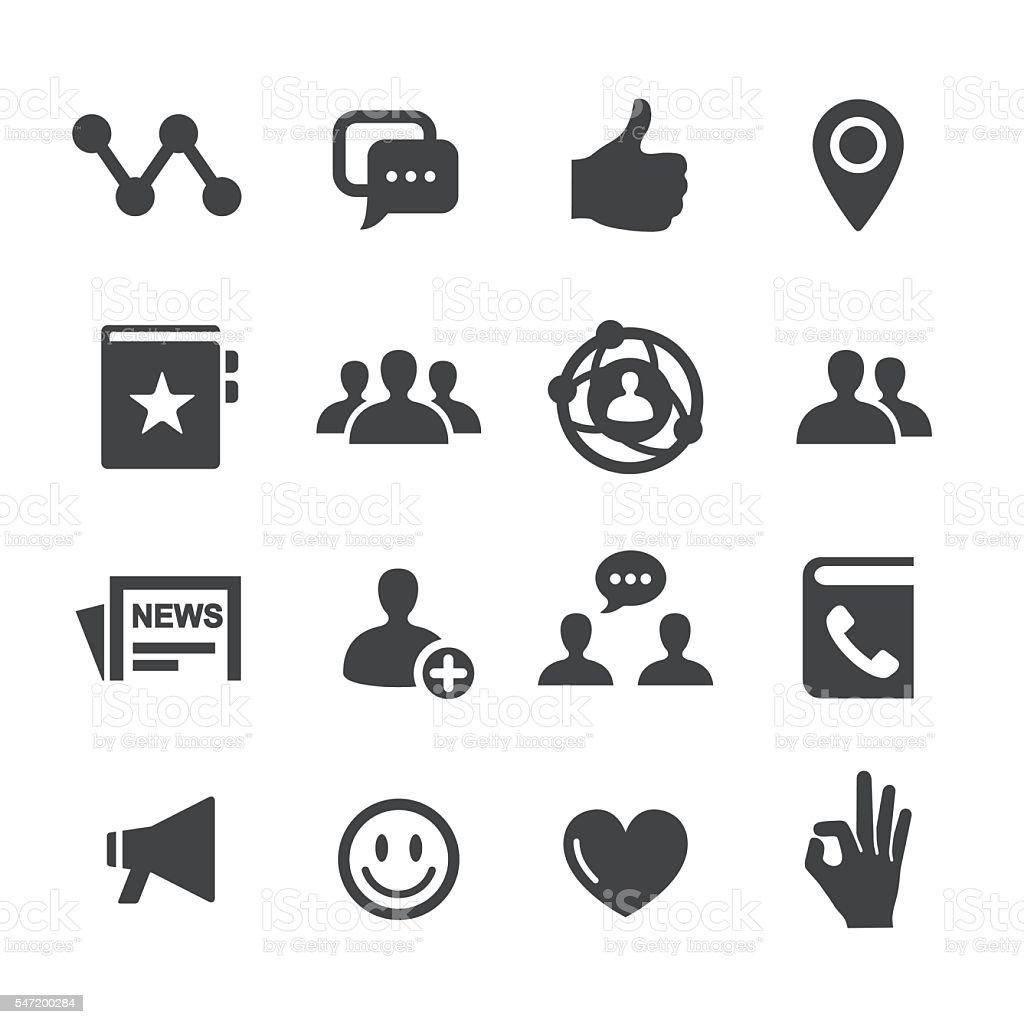 Social Icons - Acme Series vector art illustration