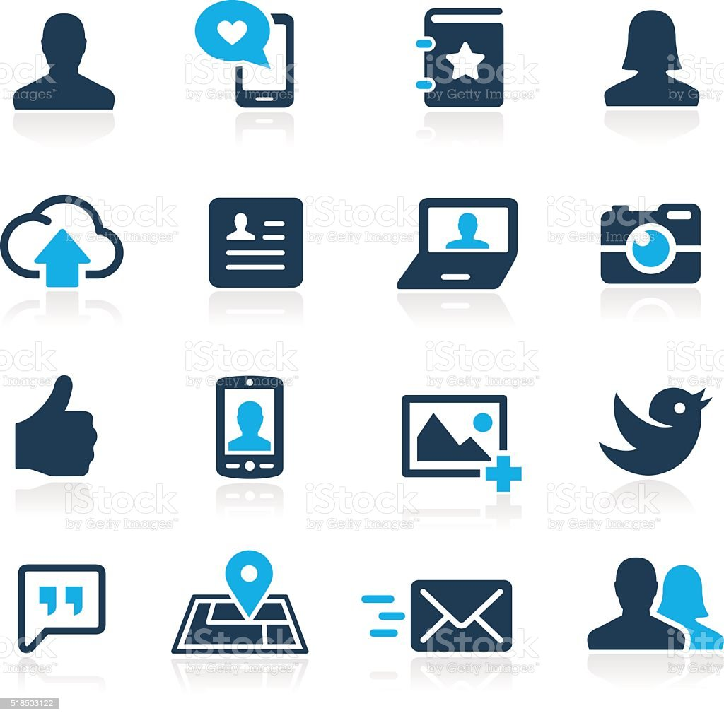 Social Icons // Azure Series vector art illustration