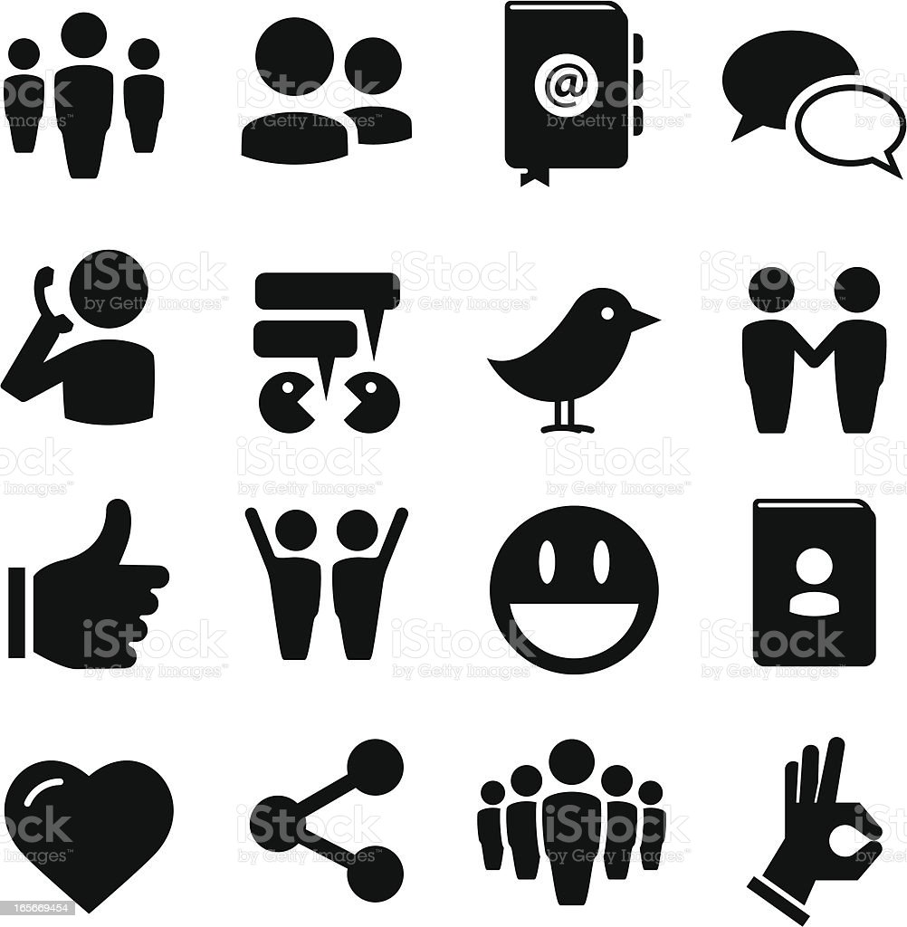 Social Icons - Black Series royalty-free stock vector art