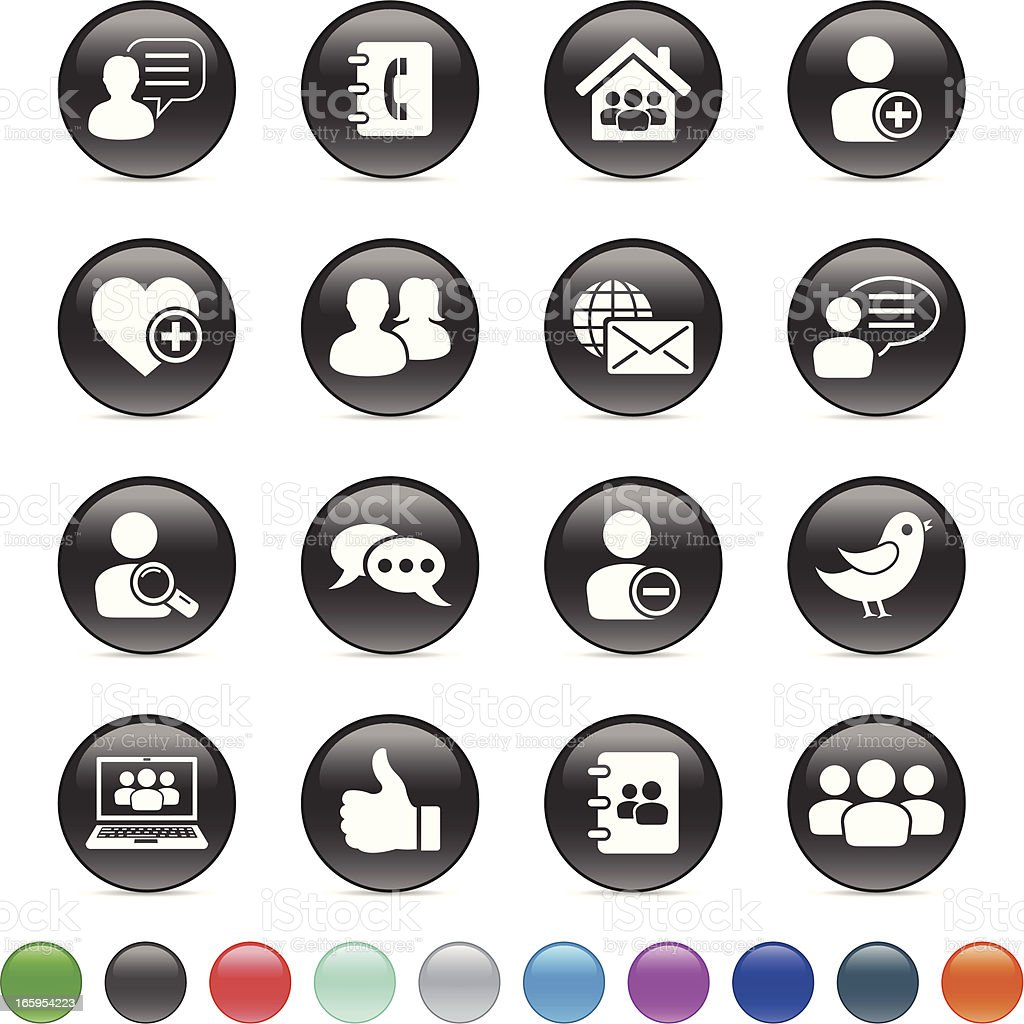 Social Icons royalty-free stock vector art