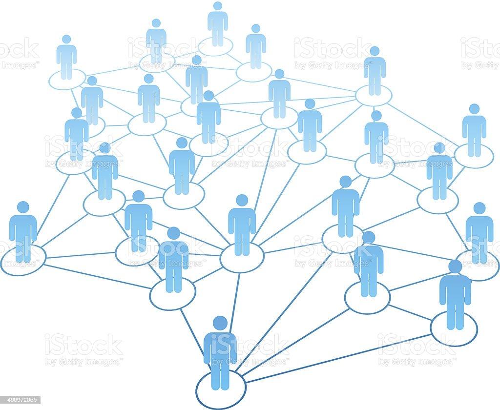 links para as redes sociais vetor de fundo vetor e ilustração royalty-free royalty-free