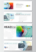 Social media and email headers set, modern banners. Business cover