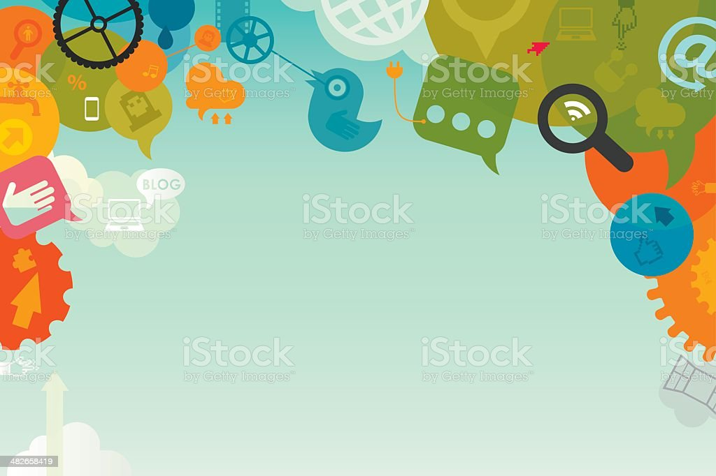 Social Media Background vector art illustration