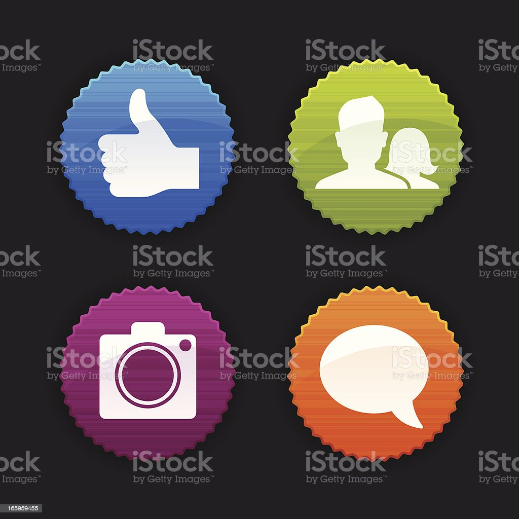 Social Media Badges royalty-free stock vector art