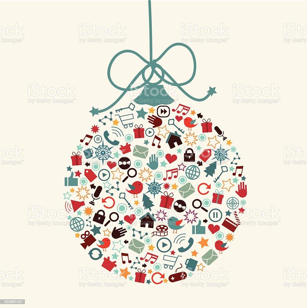 Social Media Christmas vector art illustration