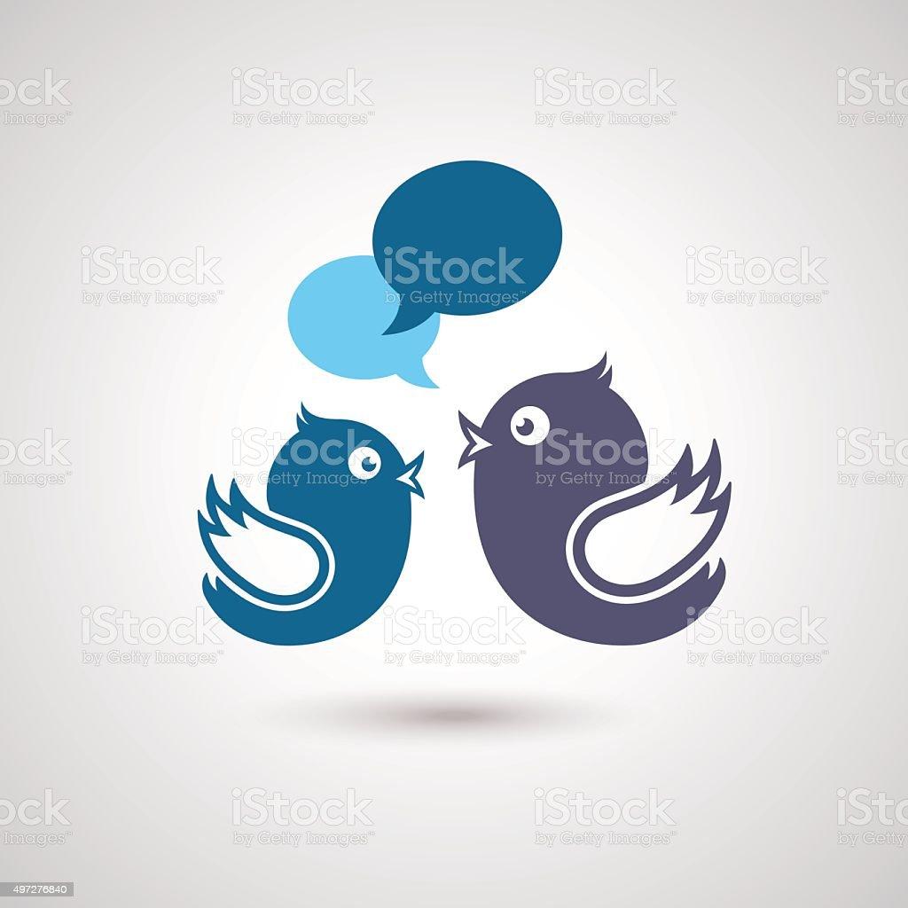 Social Media Communication. Illustration of social media vector art illustration