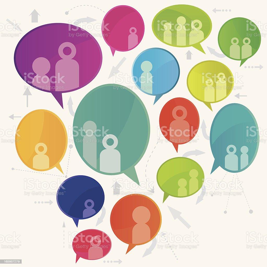 Social Media Community Speech Bubble Design royalty-free stock vector art