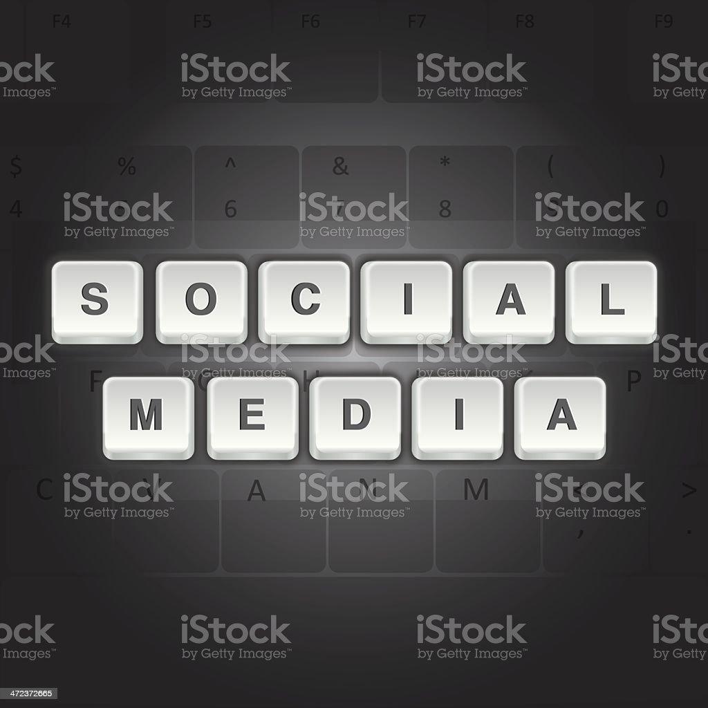 Social Media Computer Keys royalty-free stock vector art