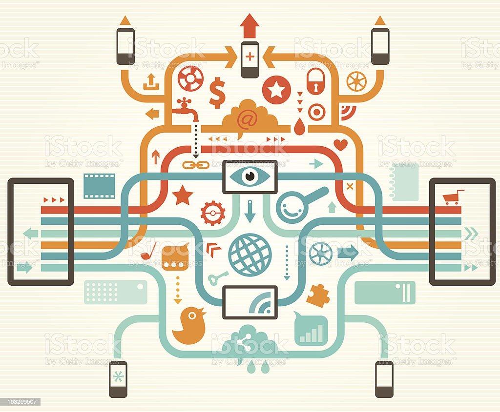 Social Media Concept royalty-free stock vector art