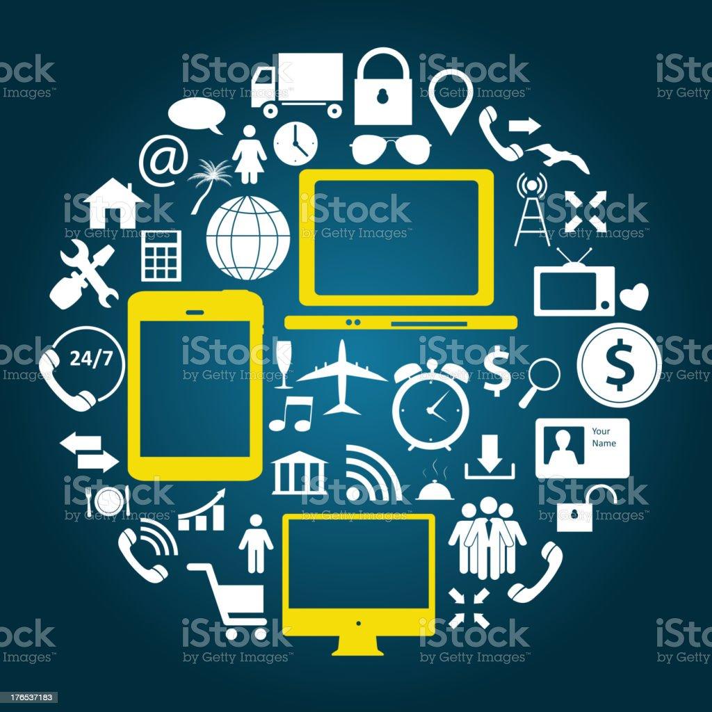 Social media concept vector illustration royalty-free stock vector art