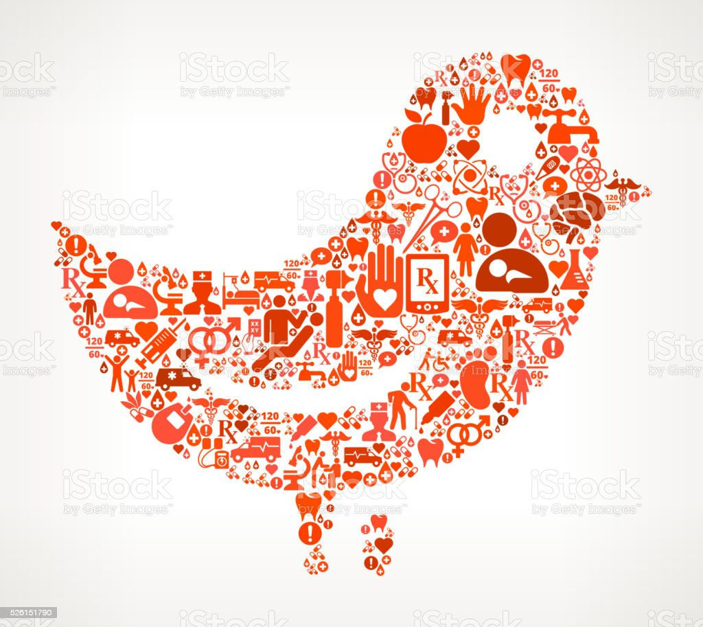 social media Healthcare and Medicine Seamless Icon Pattern vector art illustration
