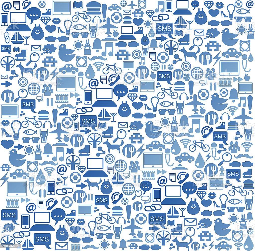 Social media icon background vector art illustration