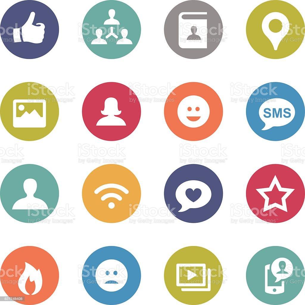 Social Media Icon - Circle Series vector art illustration