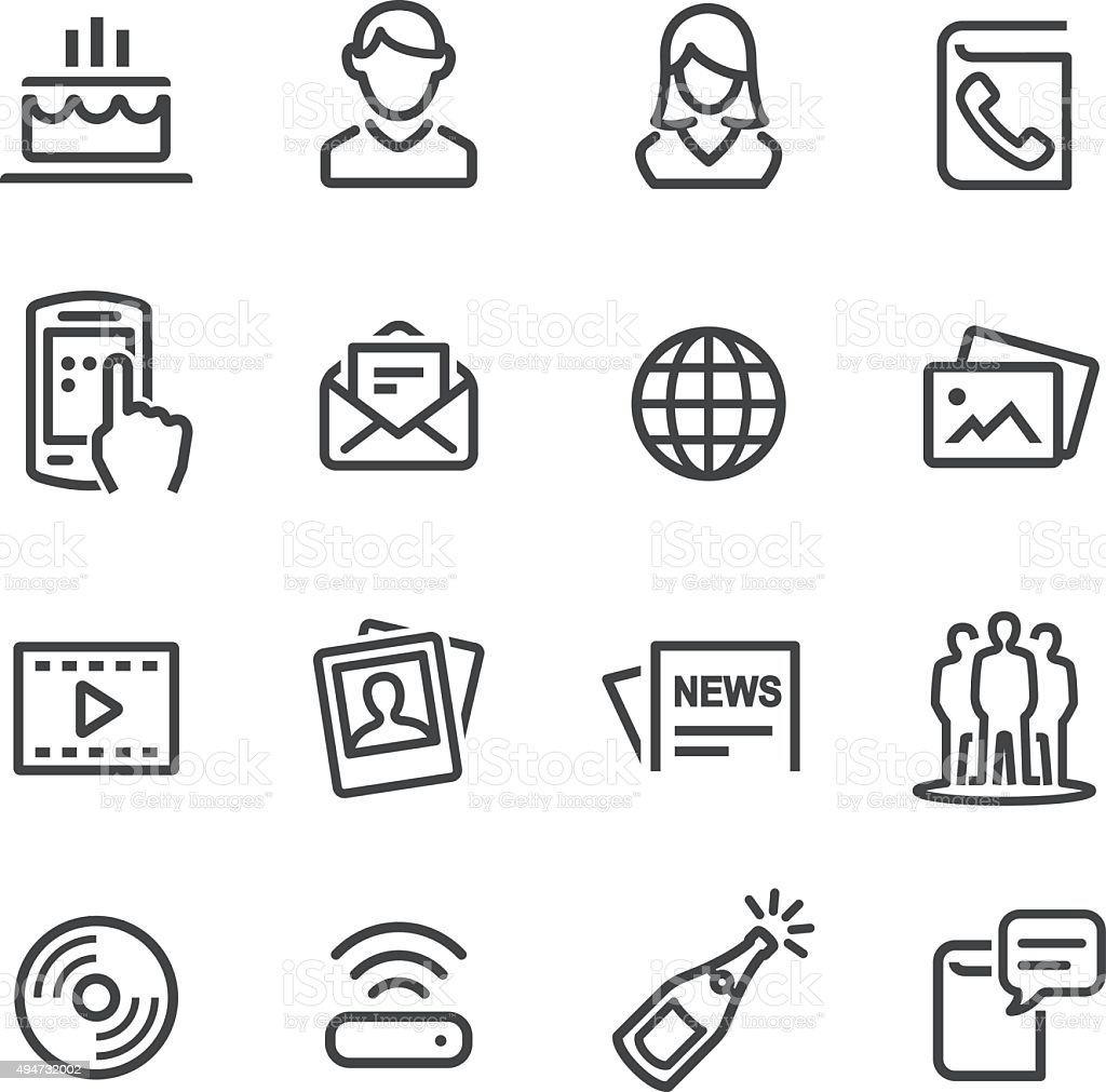 Social Media Icon - Line Series vector art illustration