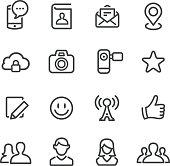 Social Media Icon Set - Line Series