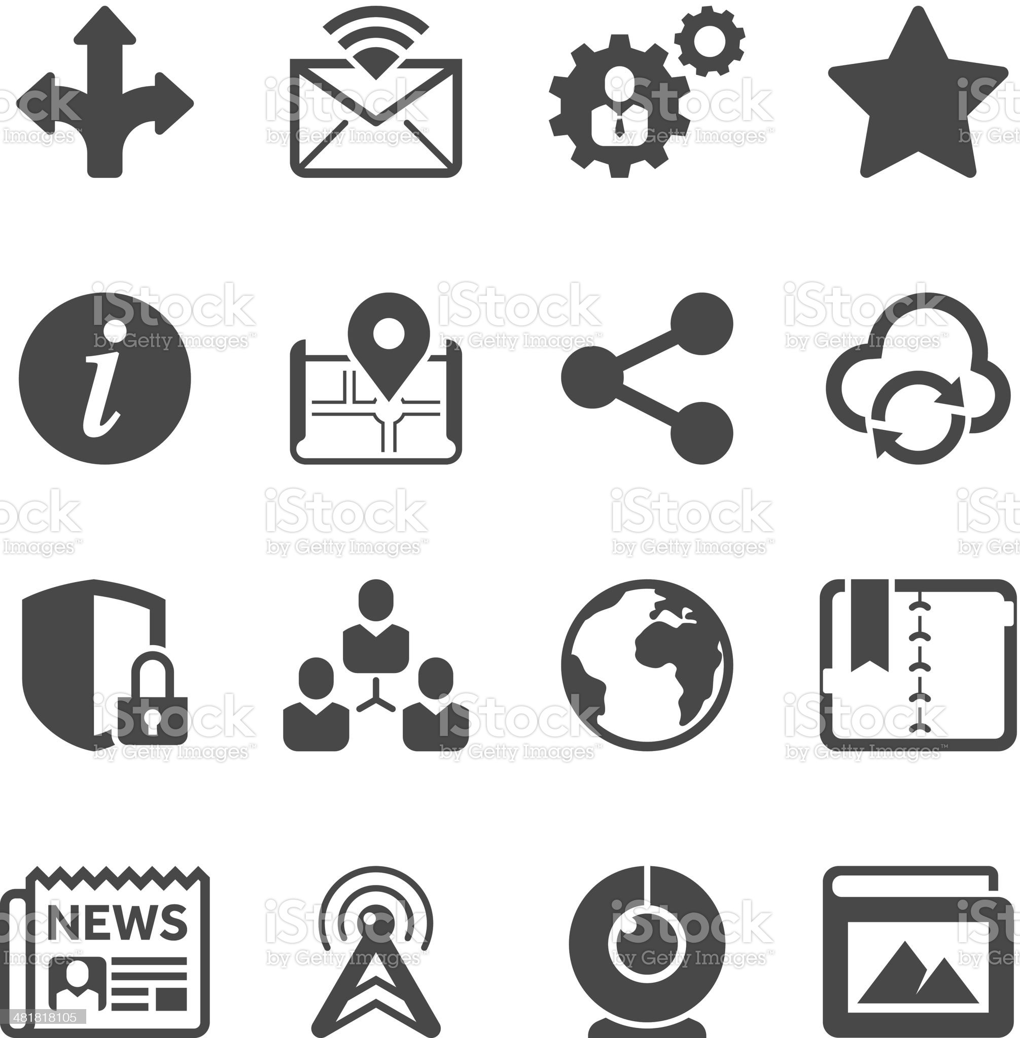 Social Media Icon Set   Unique Series royalty-free stock vector art
