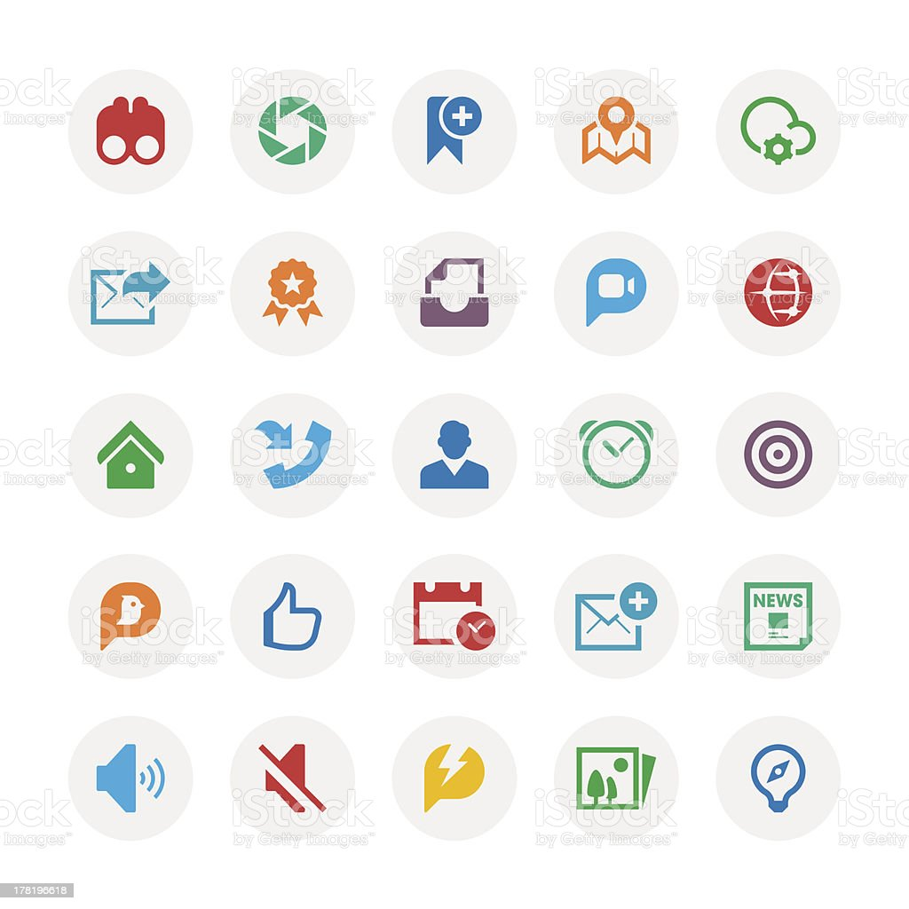 Social Media icon Set royalty-free stock vector art