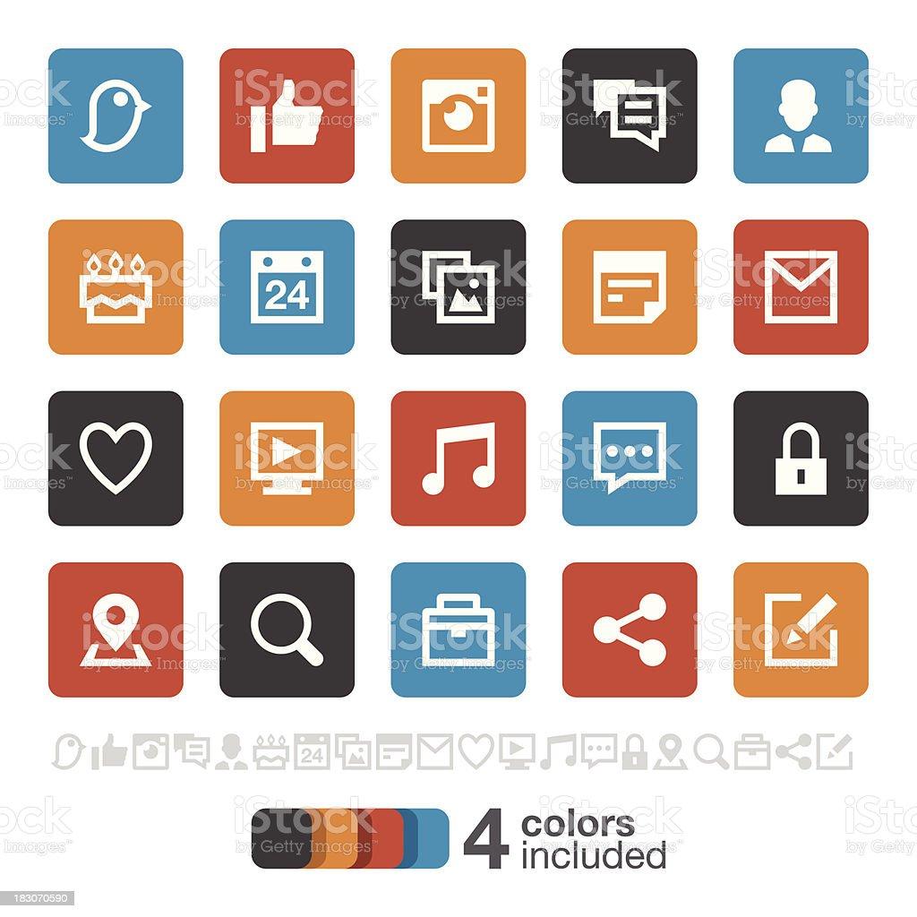 Social Media icons 1 | Brooklyn Series vector art illustration