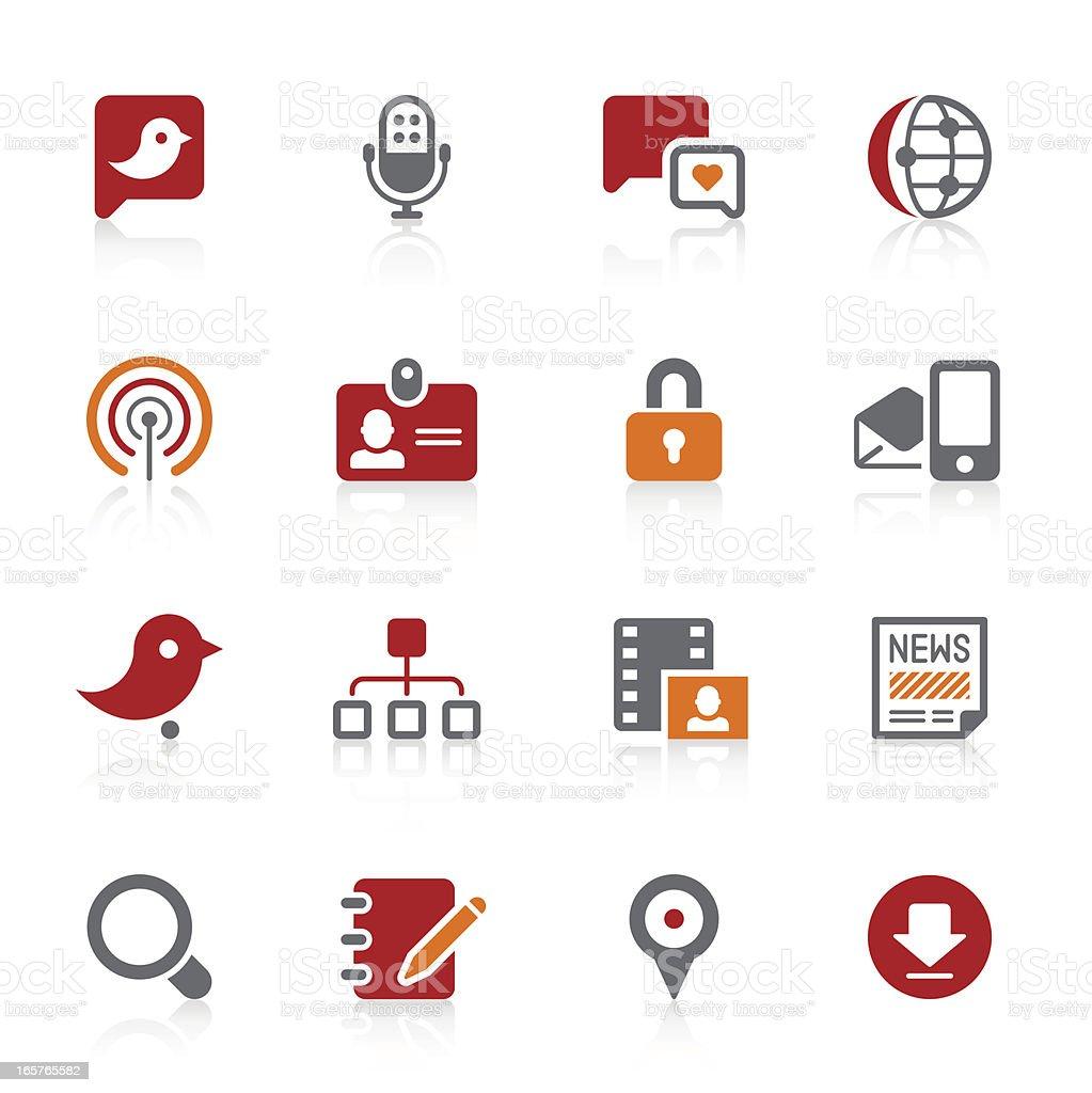 Social Media icons | Alto series royalty-free stock vector art