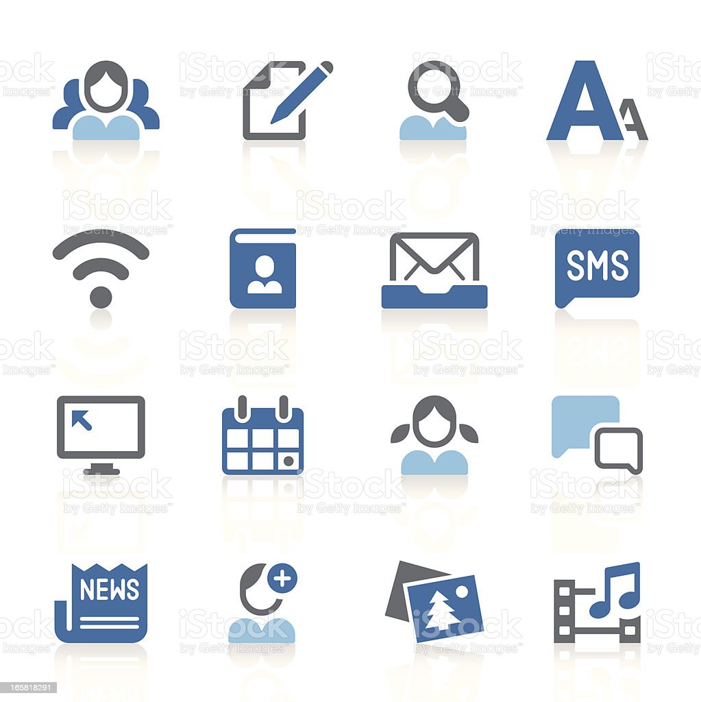 Social media icons   azur series royalty-free stock vector art