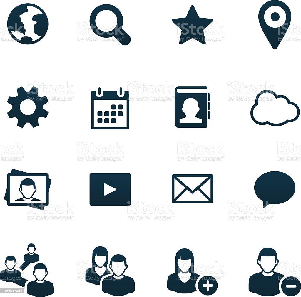 Social Media Icons | black series royalty-free stock vector art